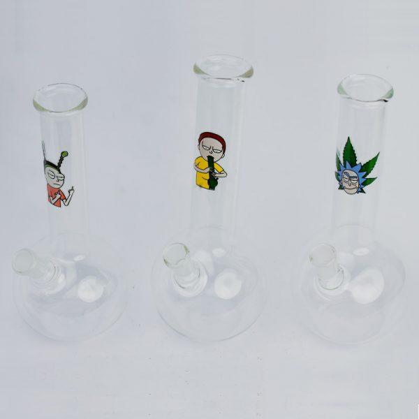 באנג זכוכית עומד ומבחנה עם איורים נבחרים ריק ומורטי