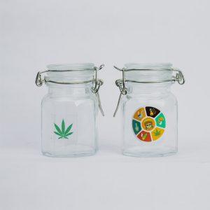 צנצנת ואקום קטנה זכוכית