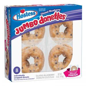 ג'מבו דונאטס בטעם אוכמניות Hostess