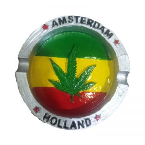 מאפרה ציור עלה ירוק Amsterdam