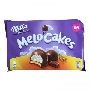 מלו-קייק עוגיות מרשמלו עם קצפת וציפוי שוקולד Milka