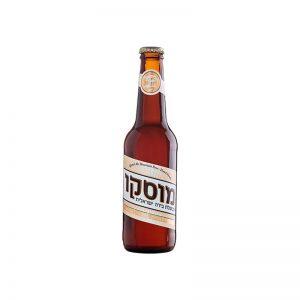 """בירה מוסקו אייל בהירה 330 מ""""ל"""