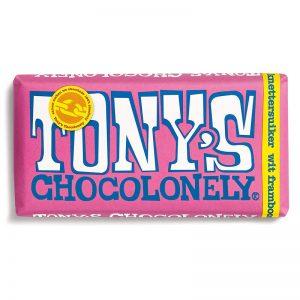 שוקולד לבן טוניס בטעם פטל Tony's