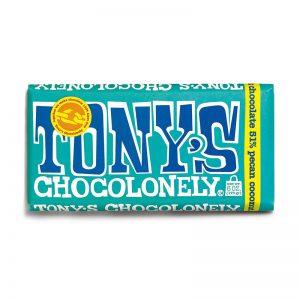 שוקולד טוניס בטעם קוקוס ופקאן Tony's