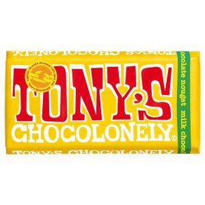 שוקולד חלב טוניס בטעם נוגט Tony's