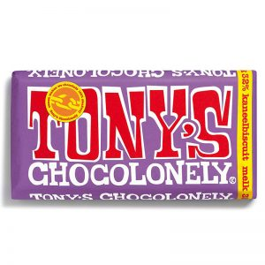 שוקולד טוניס בטעם ביסקוויט וקינמון Tony's
