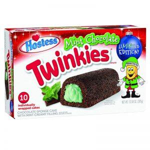 עוגות טווינקיס שוקולד עם מילוי קרן מנטה Hostess