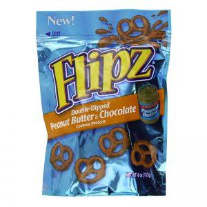 בייגלה מצופה שוקולד בטעם חמאת בוטנים Flipz