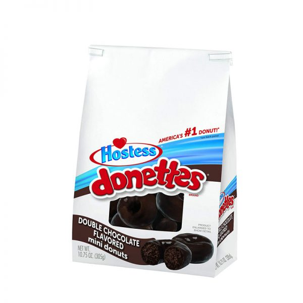 עוגות מיני דונטס דאבל שוקולד Hostess