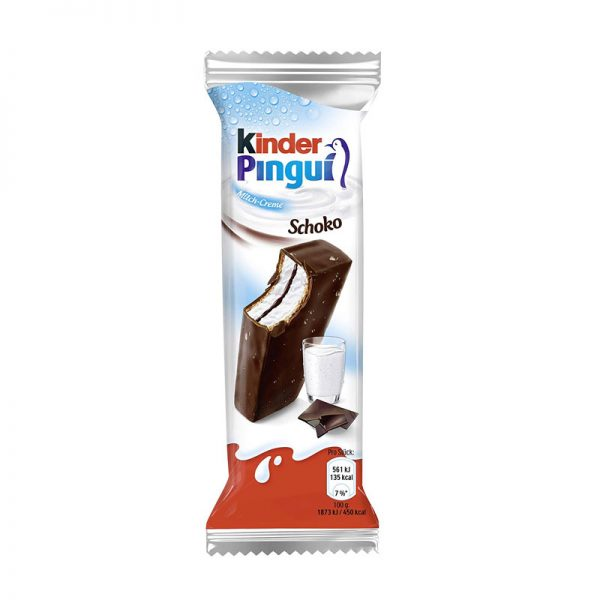 חטיף קינדר שוקולד מריר במילוי קצפת kinder Pingui