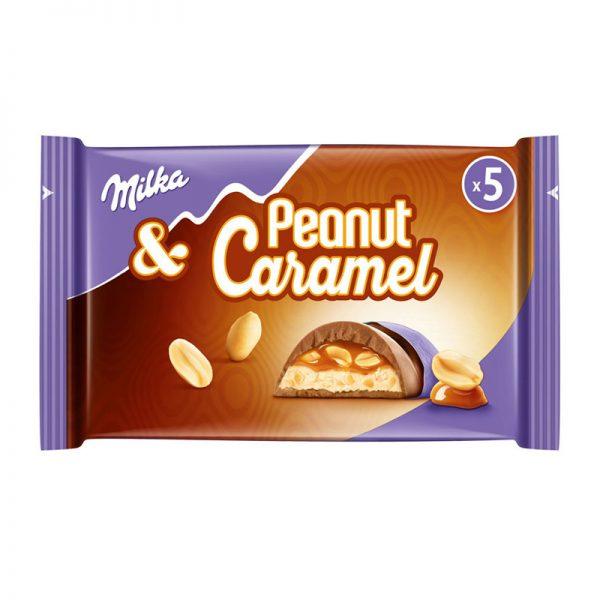חטיפי שוקולד מילקה חמאת בוטנים וקרמל MILKA